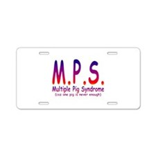 Multiple Pig Syndrome Aluminum License Plate