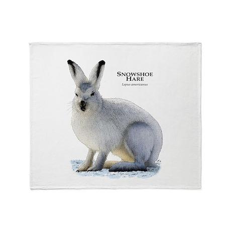 Snowshoe Hare Throw Blanket