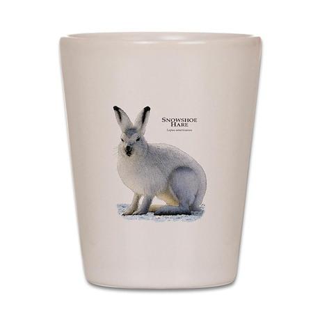 Snowshoe Hare Shot Glass