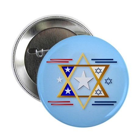 """America-Israel 2.25"""" Button (10 pack)"""