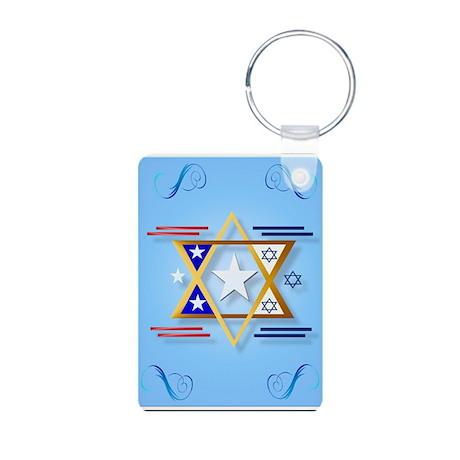America-Israel Aluminum Photo Keychain