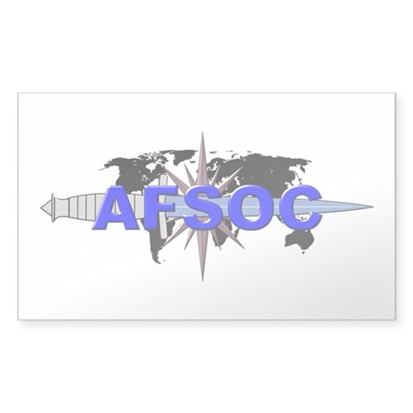 AFSOC (new) Sticker (Rectangle)