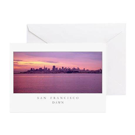 San Francisco Dawn Greeting Cards (Pk of 10)