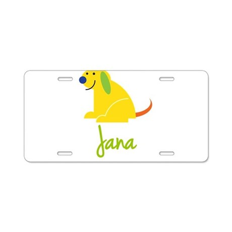 Jana Loves Puppies Aluminum License Plate