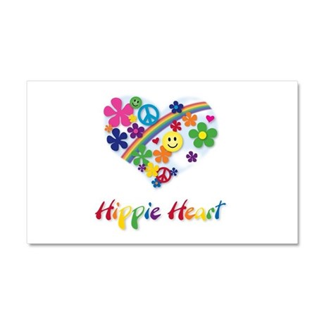 Hippie Heart Car Magnet 20 x 12