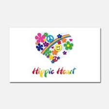 Hippie Heart Car Magnet 20 x 12