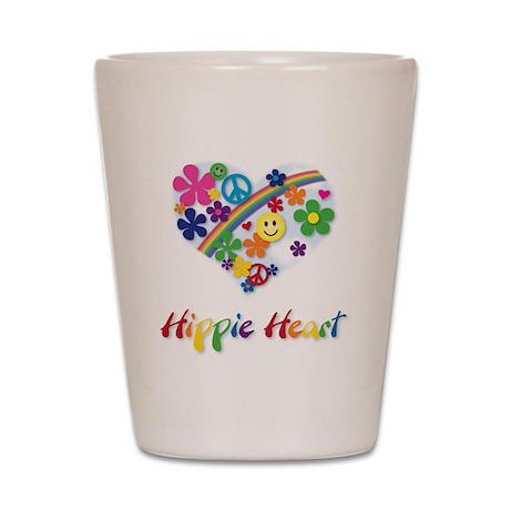 Hippie Heart Shot Glass