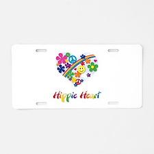 Hippie Heart Aluminum License Plate
