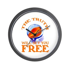 THE TRUTH WILL SET YOU FREE Wall Clock