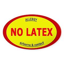 No Latex / Latex Allergy Stickers