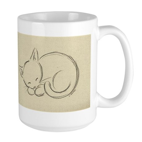 Sleeping Kitten Large Mug