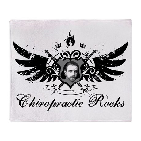 Chiropractic Rocks Throw Blanket