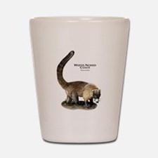 White-Nosed Coati or Coatimun Shot Glass