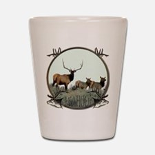Monster bull elk elkahalic Shot Glass