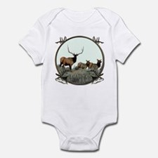 Monster bull elk elkahalic Infant Bodysuit