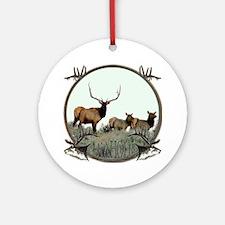 Monster bull elk elkahalic Ornament (Round)