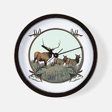 Monster bull elk elkahalic Wall Clock