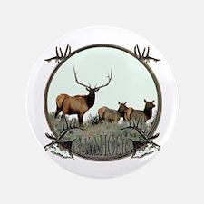 """Monster bull elk elkahalic 3.5"""" Button"""