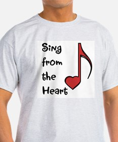 Sing from the Heart Ash Grey T-Shirt
