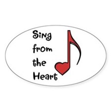 Sing from the Heart Oval Decal