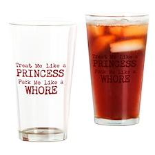 Cute Slut Drinking Glass