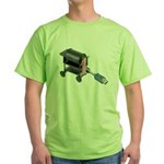 Ordering Food via Internet Green T-Shirt