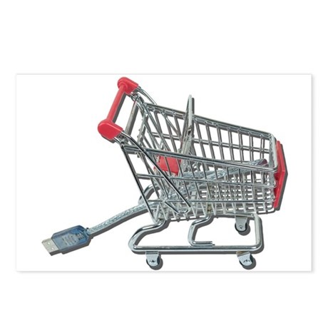 Online Shopping Cart and Cabl Postcards (Package o