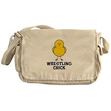Wrestling Chick Messenger Bag