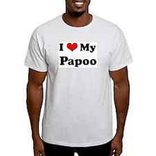 I Love Papoo Ash Grey T-Shirt