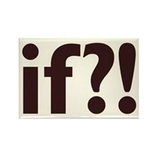 if?! white/brown Rectangle Magnet
