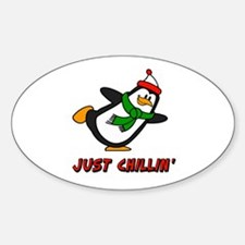 Just Chillin' Chilly Willy Sticker (Oval)