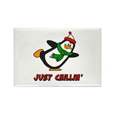 Just Chillin' Chilly Willy Rectangle Magnet