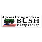 4 years under Bush Bumper Sticker