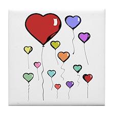 Balloon Hearts Tile Coaster