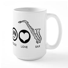 Peace Love Sax Mug