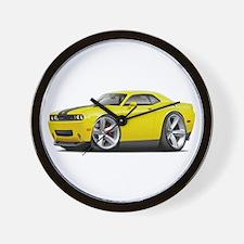 Challenger SRT8 Yellow Car Wall Clock
