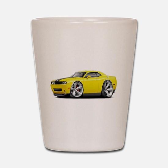 Challenger SRT8 Yellow Car Shot Glass