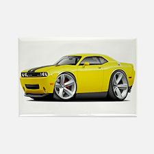 Challenger SRT8 Yellow Car Rectangle Magnet