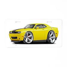 Challenger SRT8 Yellow Car Aluminum License Plate