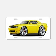 Challenger SRT8 Yellow Car Aluminum License Plate