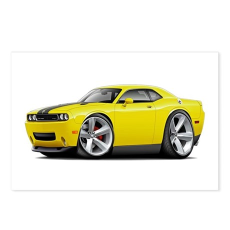 Challenger SRT8 Yellow Car Postcards (Package of 8