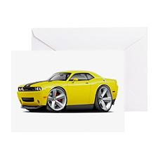 Challenger SRT8 Yellow Car Greeting Card