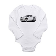 Challenger SRT8 White Car Long Sleeve Infant Bodys