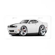 Challenger SRT8 White Car Aluminum License Plate