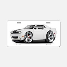 Challenger SRT8 White Car Aluminum License Plate