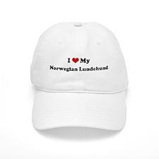 I Love Norwegian Lundehund Baseball Cap