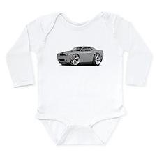 Challenger SRT8 Silver Car Long Sleeve Infant Body