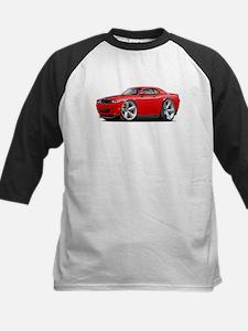 Challenger SRT8 Red Car Kids Baseball Jersey
