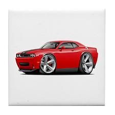 Challenger SRT8 Red Car Tile Coaster