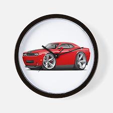 Challenger SRT8 Red Car Wall Clock